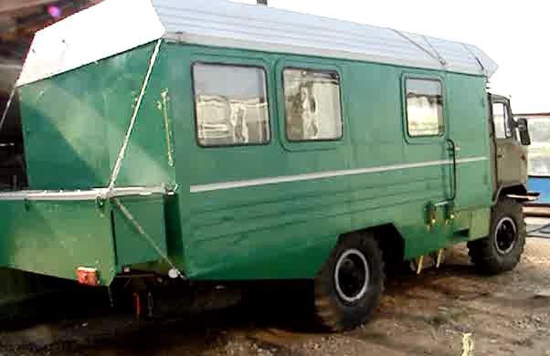 Дом на колесах из газ 66